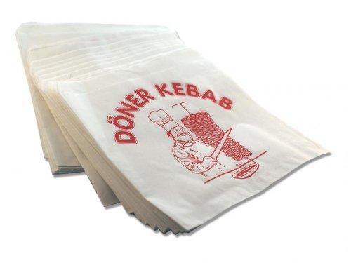 4000x Dönertüten Dönertaschen Verpackung 16x16cm mit Druck Döner Kebab Dönertüte