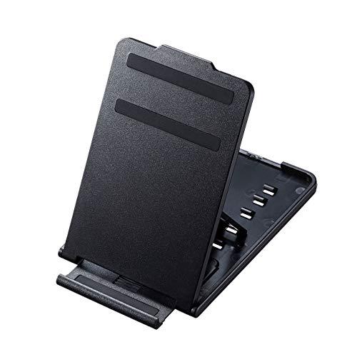 サンワサプライ スマートフォン・タブレットスタンド 折りたたみ可 薄型・モバイル 5段階角度調整可 ブラック PDA-STN33BK