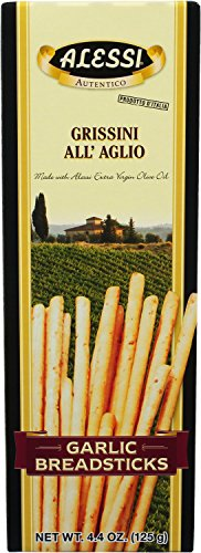 Alessi Garlic Breadsticks, 4.4 Ounce (Pack of 12)