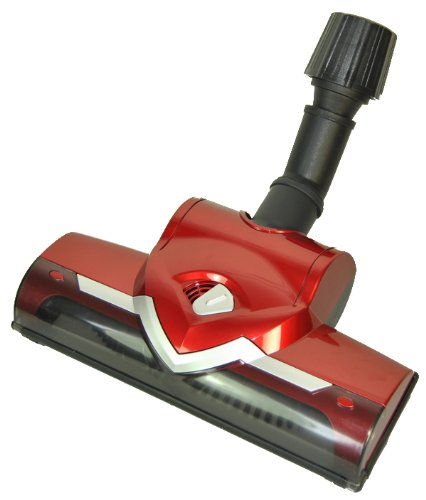 LeaBen - Bocchetta turbo universale con spazzola rotante per aspirapolvere AEG, Bosch, Siemens, Miele, collettore di aspirazione 30 - 37 mm, colore: Rosso