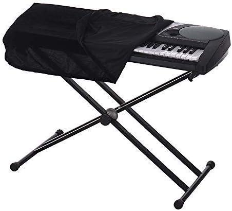 Muslady Funda de 61/76 Teclas Piano Electrónico Teclado Cubierta de Polvo Negro Suave Tela Protector Antipolvo Lavable