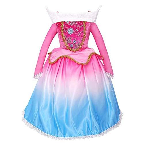 Kosplay Disfraz de Princesa Aurora para Niñas , Traje de Bella Durmiente Disfraces para Holloween Fiesta Navidad Boda Gala de Ceremonia Noche Cumpleaños Aniversario Cosplay Costume