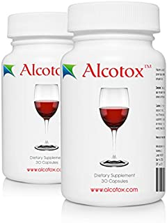 Alcotox Hangover Cure - Natural Hangover Prevention and Liver Support - 30 Vegetarian Capsules - Nutrient and Electrolyte Replenishment - Prevents Asian Flush