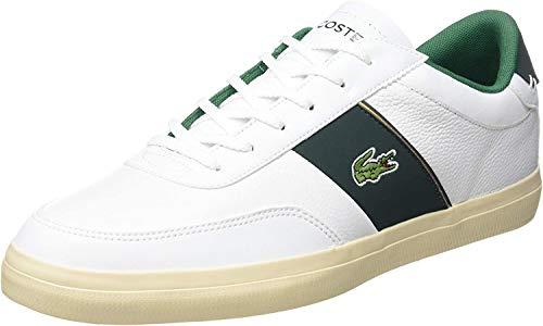 Lacoste Court-Master 319 6 CMA, Zapatillas para Hombre, Blanco (Wht/Dk Grn), 47 EU