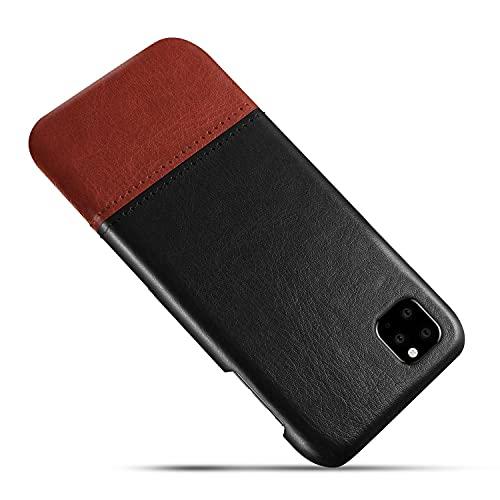 Suhctup Bicolor Funda de Cuero Cosido Compatible con Xiaomi Redmi Note 5A,Diseño de Color Contrastante con Costuras Retro Ultrafinas Moda y Carcasa de Plástico Duro Duradero Choque