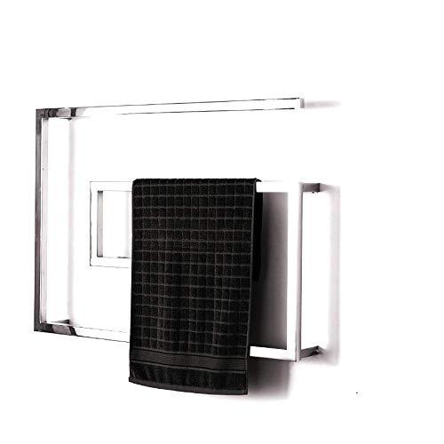 Toallero De Acero Inoxidable 304 con Calefacción, Radiador De Riel para Toallas con Opciones De Cableado Y Enchufables, Calentador De Toallas Eléctrico De 800 X 600 Mm, Ahorro De Espacio Y Energía