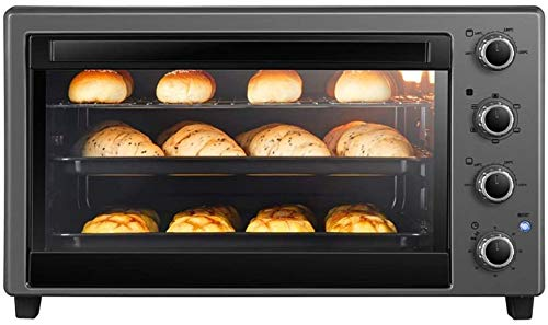 Mini oven Europese Baking Multi-Function Automatic Convection Table Oven, waaronder gegrilde net, Vork, bakplaat, Dienblad, Rack Remover, 60 Liter 2200W Grote Oven