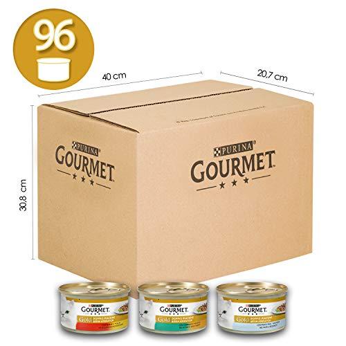 Purina Gourmet Gold Umido Gatto Doppio Piacere con Manzo e Pollo,...