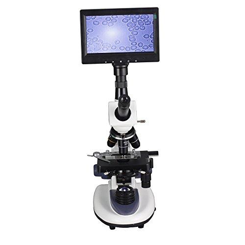 Hochwertiges professionelles biologisches Mikroskop 40x -1600X mit 17,8cm LCD-Display für Blutdruckmessgerät Erkennung Milben Aquakultur Instrument