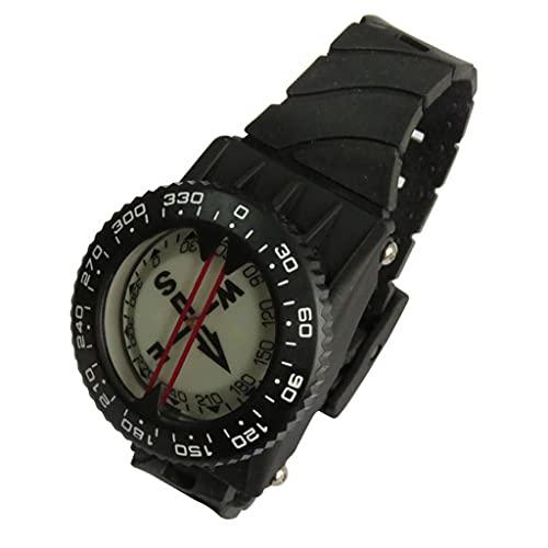Aiglen Buceo Brújula Submarino Luminoso Brújula Reloj Brújula Reloj de dirección Clip de Tubo de muñeca Dos Tipos de