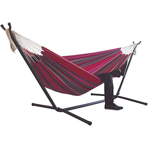 QINGCHU Hamaca para exteriores, portátil, para camping, ocio, exterior, silla Swing Stripe colgante, 200 x 150 cm (150 kg de resistencia), para terraza, patio o jardín