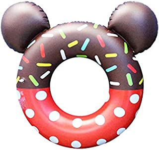 【Big Hashi 】可愛い ドーナツフロート 子供用40cm. 便利に携帯 海水浴 プール レッド(ttq-h05)