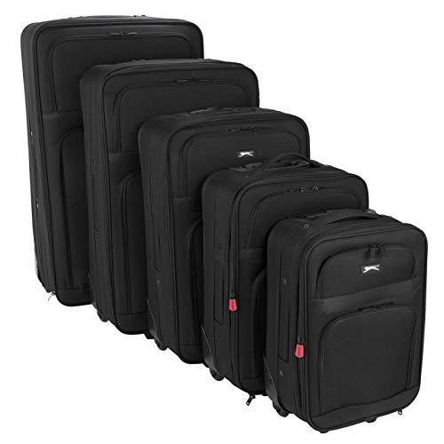 Slazenger - Juego de maletas con ruedas unisex Negro Negro 5-teiliger Set