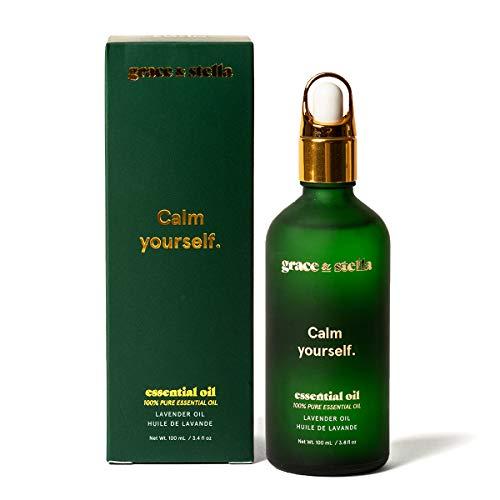 Aceite esencial de lavanda (100 ml) Aceites de masaje naturales puros al 100% para mejorar el sueño, difusor de fragancia para el hogar, fabricación de velas, repelente de mosquitos | Regalo mujeres