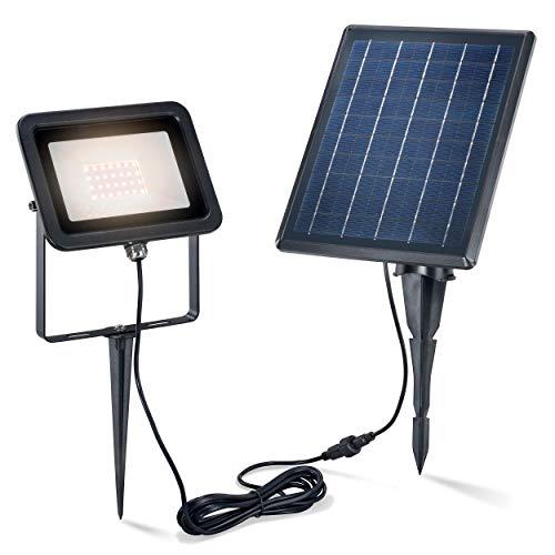 Solaire Premium Luminaire Avec 28 Leds - Ultra Large 5 W Module - Couleur de la Lumière Blanc Chaud 3000K - Lichtstrom 150 Lm - Mur Ou Bondenmontage - Lampe Spot Projecteur Jardin Esotec 102701