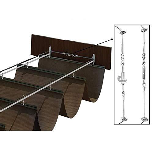 LH-RUG Toldo de pérgola retráctil, toldo de Vela, toldo de Techo, decoración Exterior, balcón de Entrada, 48 tamaños, tamaño Personalizado