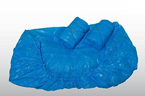 10 Stück Matratzenüberzüge blau - 90 x 210 x 20 cm - wasserdicht - Matratzenschoner - Matratzenschonbezug - CPE - (Dicke: 20 my)
