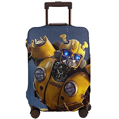Bumblebee Transformers Movie Cool Warrior Maleta Protector Funda lavable Diseño 3D 4 tamaños para la mayoría de equipaje bolsa protectora cremallera