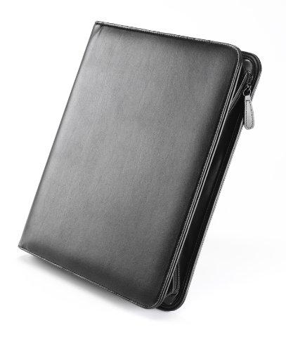 Falcon Konferenzmappe aus Leder mit Reißverschluss, A4, Schwarz