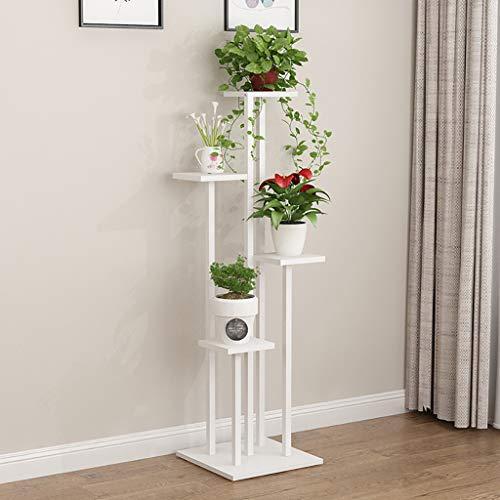 ZWJhj Porte Plante Étagère en Fer à Fleurs Rangement Multifonctionnel étagère à Fleurs Vert Plante présentoir Blanc Étagères à Fleurs (Taille : 40 * 40 * 140cm)