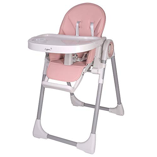 Trona infantil Fency para niños de 6 a 36 meses, regulable en 7 niveles, carga máxima de hasta 20 kg, trona universal 3 en 1 (rosa)
