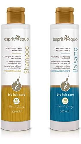 Esprit Equo Trattamento BIO capelli colorati e trattati SHAMPOO + BALSAMO CREMA Nutriente e Ristrutturante
