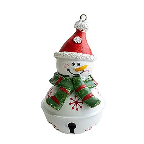Adorno colgante portátil ampliamente uso Metal campana decorativa árbol de Navidad colgante para Festival - muñeco de nieve