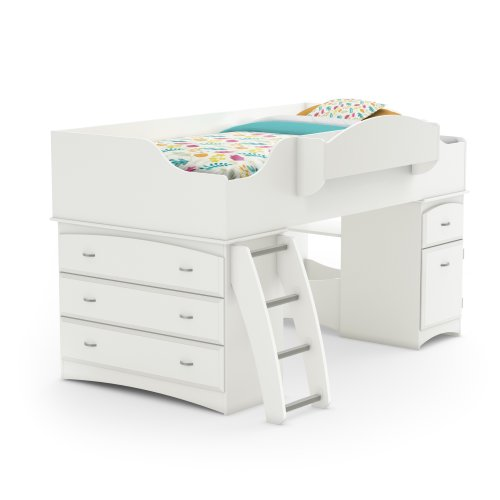 Hot Sale South Shore Imagine Collection Twin Loft Bed kit, Pure White