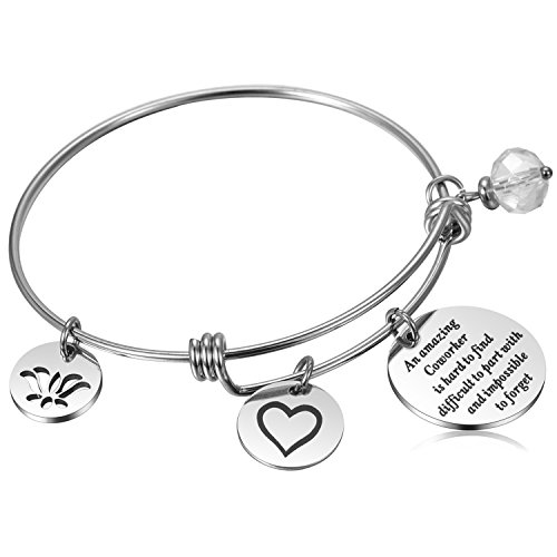 Coworker Leaving Gifts Going Away Bracelet Thank You Gifts for Coworkers Goodbye Gift Farewell Gift for Friend Boss, Colleague Moving
