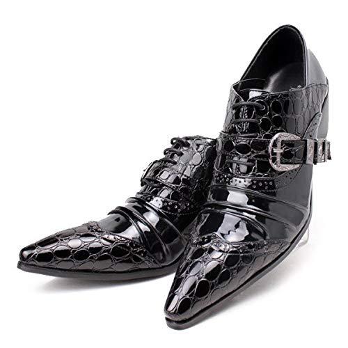 XER halfhoge herenschoenen, kant, heren kappers-lederen schoenen, trendy persoonlijkheid voor bruiloft, vrije tijd, kantoor, party, maat 37 tot 46
