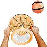DAMEILI Mini Aro De Baloncesto para Dormitorio, Juego De Pelota De Tiro Montado En El Techo Interior, Juego De Deportes, Aro De Baloncesto PortáTil Sin Perforaciones A