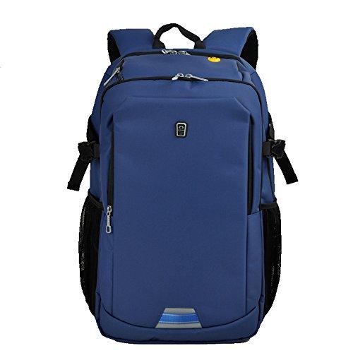 Sinpaid Hergestellt aus Oxford Business Laptop Rucksack Wasserdichte Reise Daypack Schule Bookbag, Durable Camping oder Wandern Rucksack (blue)