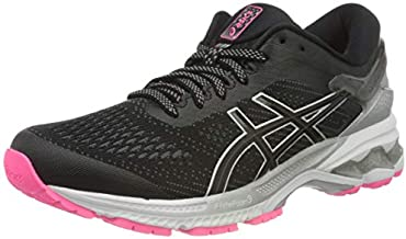 ASICS Women's Gel-Kayano 26 LITE-Show Running Shoe, Black/Black
