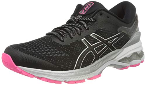 ASICS Womens Gel-Kayano 26 LITE-Show Running Shoe, Black, 39.5 EU