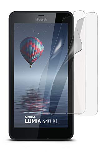 MoEx® Matte Anti Reflex Bildschirmschutzfolie passend für Microsoft Lumia 640 XL | Gegen Reflexionen und Fett-Finger - Entspiegelt