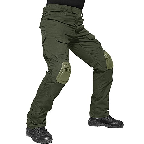 TACVASEN Outdoor Hose Herren Baumwolle Taktische Hosen Grün Militär Tactical Hose Armee Military Militärhose