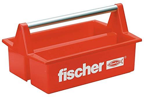 fischer Werkzeugkasten Plastik Rot