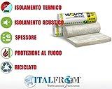 ITALFROM - Pannello Arrotolato in Lana di Vetro (45 mm) per Isolamento Termico -18 mq - 2 Rotoli da 0,6x15 m