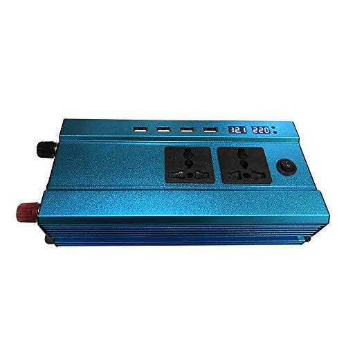 KKmoon Inversor De Energía Solar 4000W DC 12V To AC 220V Onda Modificada Convertidor Enchufe 4 USB Puertos