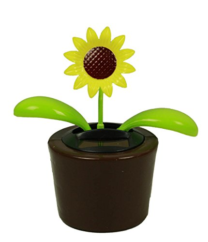 HAAC Solar Wackelblume Blume Motiv Sonnenblume im Topf
