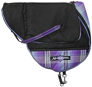 Kensington Dressage Saddle Carry Bag — Padded for Additional Protection — Features Top Compartment and Lower Storage Pockets — Padded Shoulder Pad for Carrying Comfort