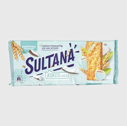Kokos-Keks-Portionspackungen | Sultana | Knusprige Kokosnuss 5 x 3 Stück | Gesamtgewicht 207 Gramm