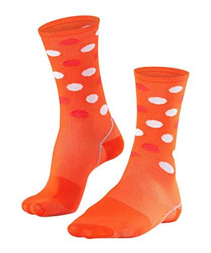 FALKE Herren BC Impulse Dots Biking Socken, orange ray, 46-48