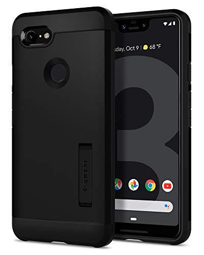 Spigen Tough Armor Kompatibel mit Google Pixel 3 XL Hülle F20CS25024 Anti-Fingerabdruck Stoßabweisende Doppelte Schutzschicht Handyhülle für Extrem Fallschutz Schutzhülle Hülle Schwarz