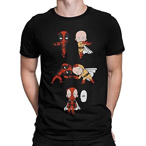 4006-Camiseta Premium, Saitama x Deadp. Fusion (albertocubatas)
