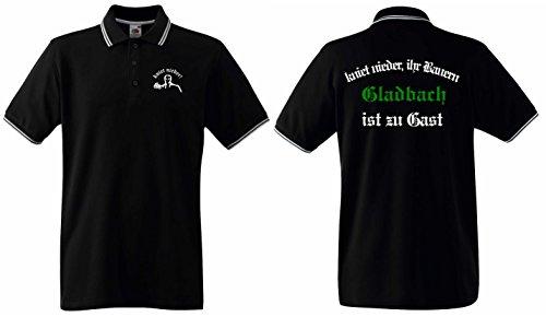 Gladbach Herren Polo Shirt Ultras kniet nieder.