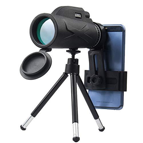 Blusea 80X100 Zoom High Definition Objektiv Prisma Wandern Monokular Teleskop + Telefonclip + Stativ,HD Großes Okular Design,18MM Okular Geeignet für Reisen,Urlaub,Wandern