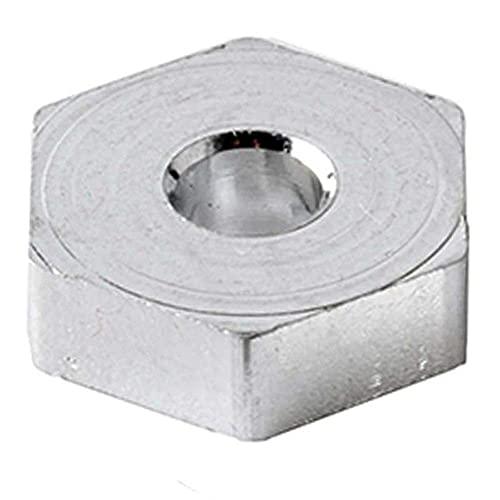 V-MAXZONE Durable RC A580040 - Rueda de aluminio hexagonal de 12 mm, para coche 1:18, A949, A959, A969, A979, k929, accesorios para coche (color: púrpura) (color: plateado)