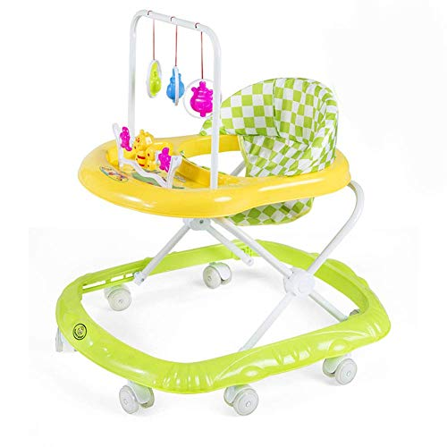 Multi-Functional Baby Walker,with Music Anti-Rollover Walker,Anti-O-Leg Baby Walker,Height-Adjustable Baby Walker,Maximum Load 15 Kg,for Girls Boys 6-18Months Toddler