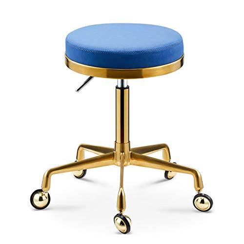 Taburete Con Ruedas Para Clinicas, taburete giratorio de cuero sintético, taburete de tocador, silla de comedor, mesa, escritorio, silla de oficina, taburete giratorio bajo para cocina, bar, salón,